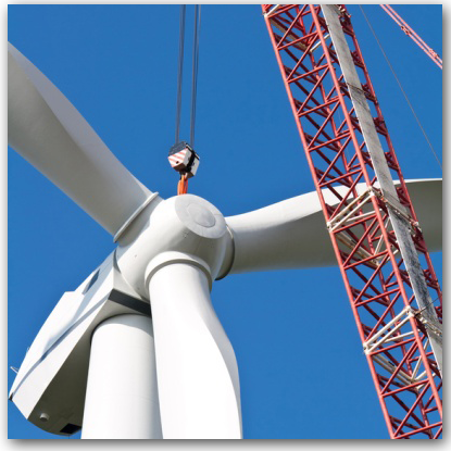 Nahaufnahme Windrad - Projektrealisierung mit 3U ENERGY PE