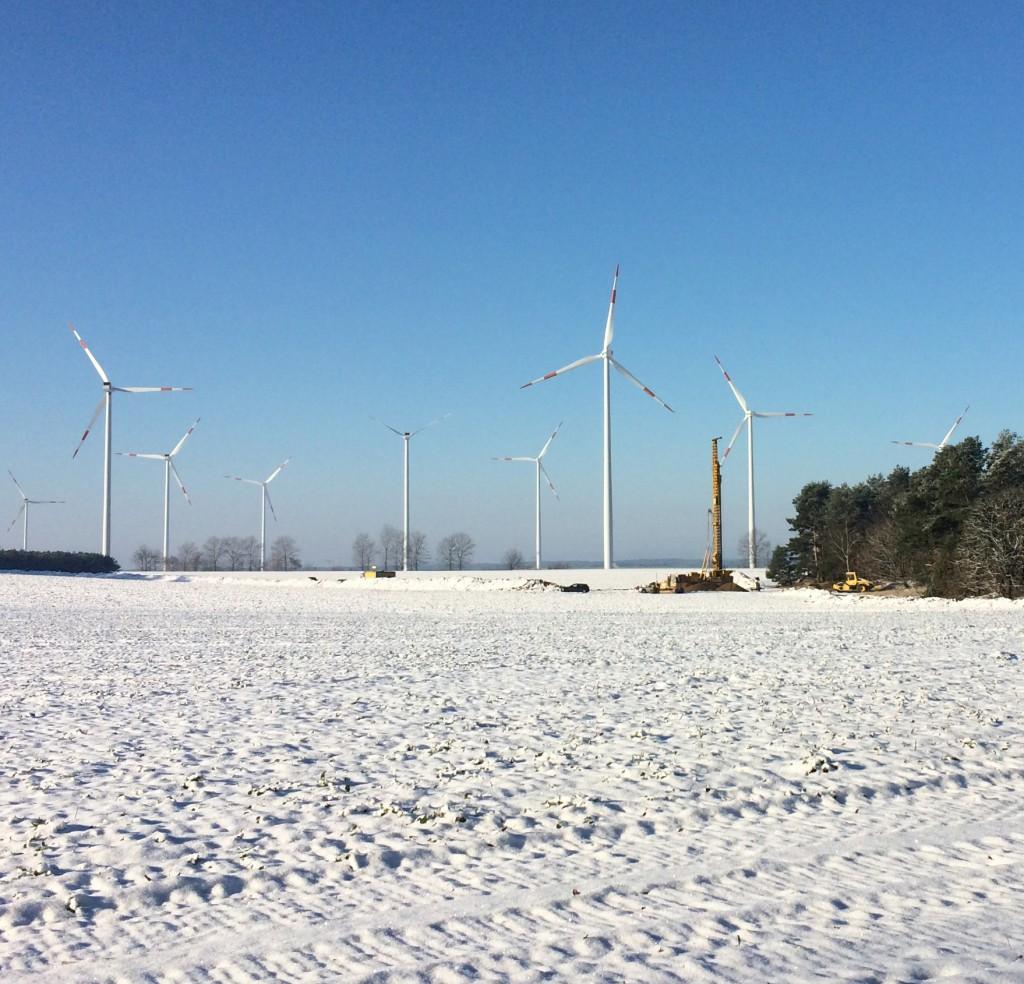 Bodenbohrung für neue Windenergieanlagen