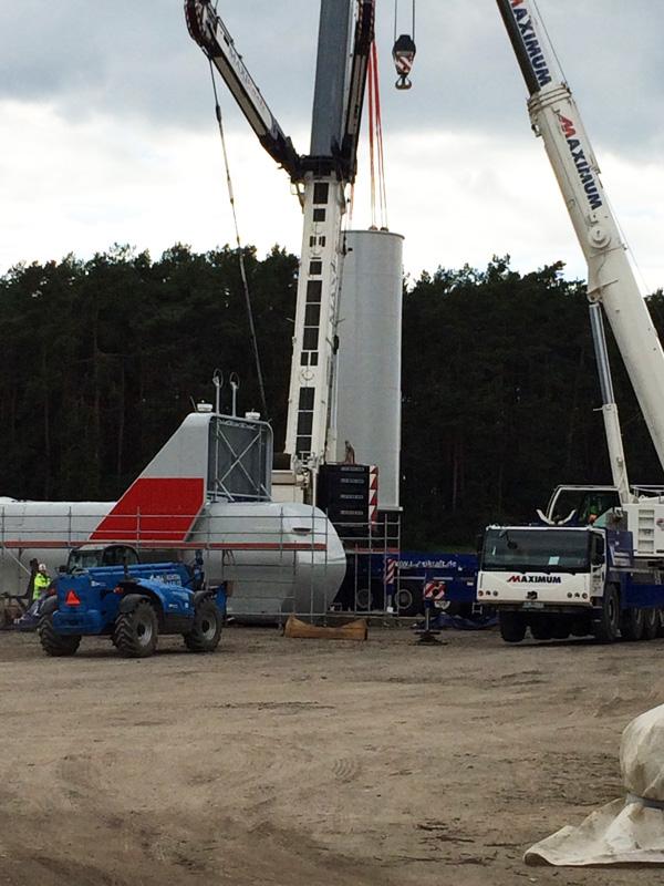 Windpark Luedersdorf II 3U ENERGY-PE Baufortschritt April 2016 2