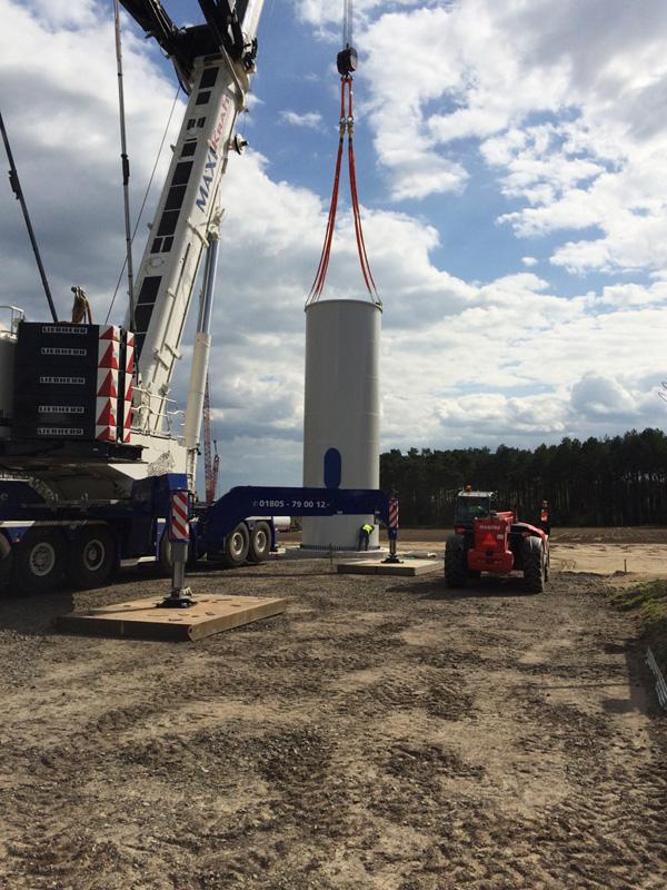 Windpark Luedersdorf II 3U ENERGY-PE Baufortschritt April 2016 3